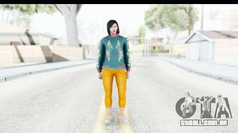 Cunning Stunts DLC Female Skin para GTA San Andreas segunda tela