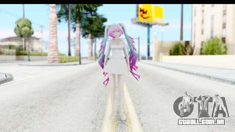 White Dress Miku para GTA San Andreas segunda tela