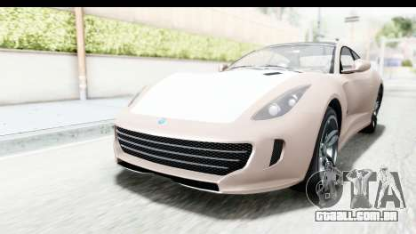 GTA 5 Grotti Bestia GTS with MipMap para GTA San Andreas traseira esquerda vista