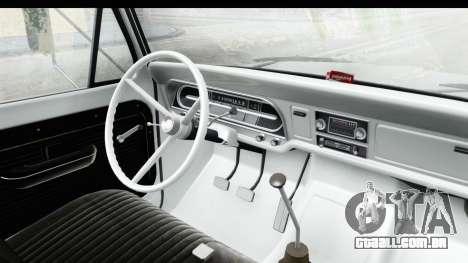 Ford F-350 Farm Truck 1970 IVF para GTA San Andreas vista interior