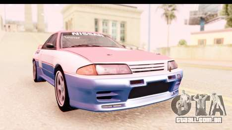 Nissan Skyline Group A para GTA San Andreas vista traseira