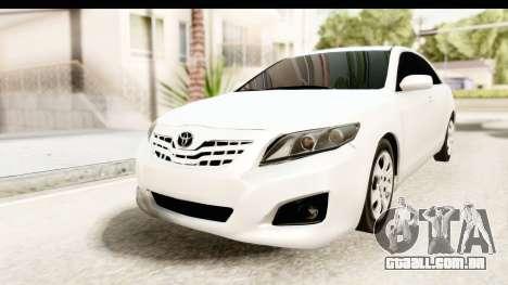 Toyota Camry GL 2011 para GTA San Andreas