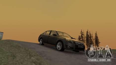 Subaru Legacy 2010 para GTA San Andreas traseira esquerda vista