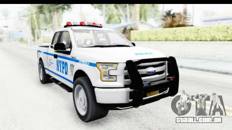 Ford F-150 Police New York para GTA San Andreas vista direita