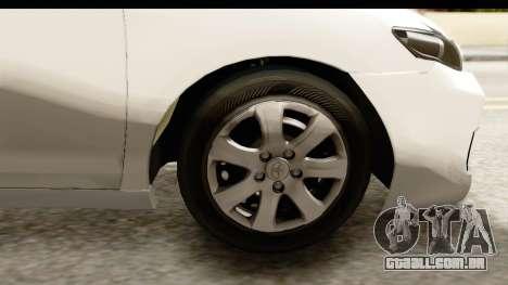 Toyota Camry GL 2011 para GTA San Andreas vista traseira