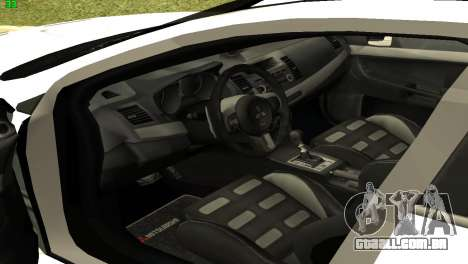 Mitsubishi Lancer X GVR para GTA San Andreas vista traseira