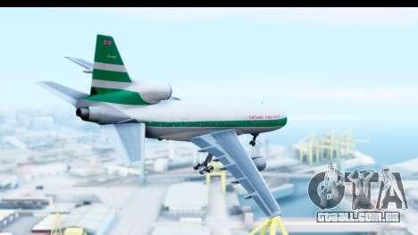 Lockheed L-1011-100 TriStar Cathay Pacific Air para GTA San Andreas vista direita