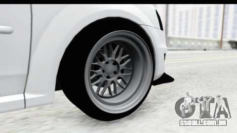 Dacia Logan Coil para GTA San Andreas vista traseira