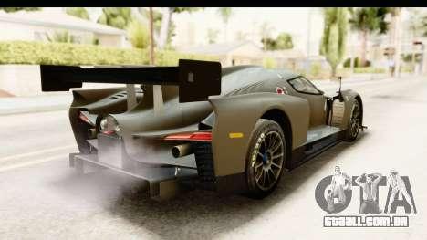 Scuderia Glickenhaus SCG 003C para GTA San Andreas traseira esquerda vista