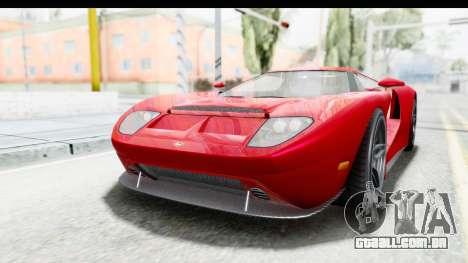 GTA 5 Vapid Bullet Face FMJ para GTA San Andreas traseira esquerda vista