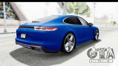 Porsche Panamera 4S 2017 v1 para GTA San Andreas esquerda vista