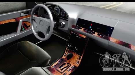 Mercedes-Benz W140 S600 AMG para GTA San Andreas vista interior