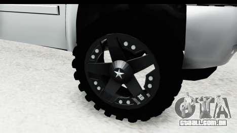 Chevrolet Silverado Duramax 2012 para GTA San Andreas vista traseira
