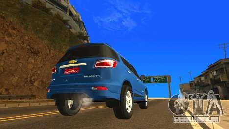 Chevrolet TrailBlazer 2015 LTZ para GTA San Andreas vista direita