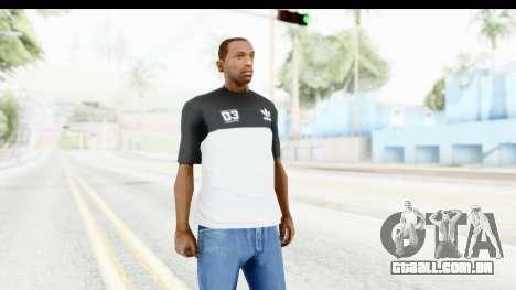 Adidas Black White T-Shirt para GTA San Andreas segunda tela