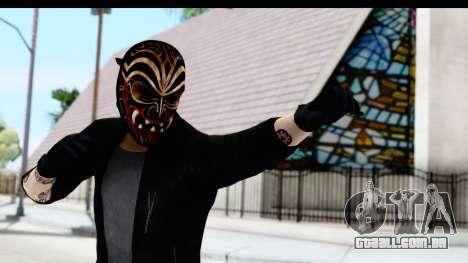 Payday 2 - Bodhi with Mask para GTA San Andreas
