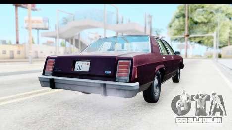 Ford LTD Crown Victoria 1987 para GTA San Andreas vista direita