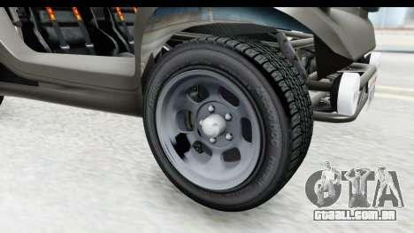 GTA 5 BF Bifta v2 IVF para GTA San Andreas vista traseira