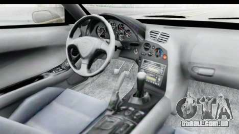 Mazda RX-7 4-doors Fastback para GTA San Andreas vista interior