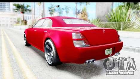 GTA 5 Enus Windsor Drop para GTA San Andreas traseira esquerda vista