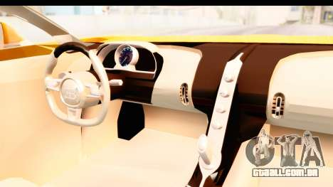 Bugatti Chiron 2017 v2.0 Updated para GTA San Andreas vista interior