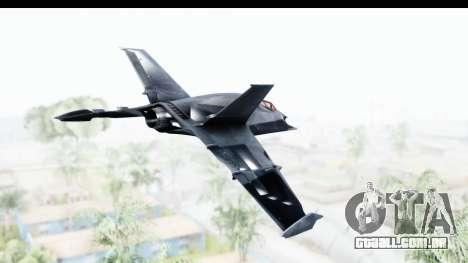 Batman Arkham Origins - Batwing para GTA San Andreas vista direita