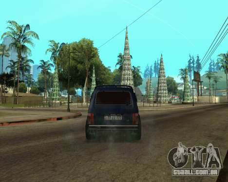 Niva 2121 Armenian para GTA San Andreas vista inferior