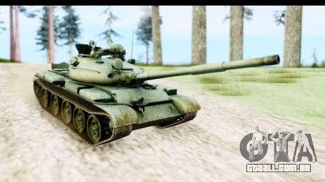 T-62 Wood Camo v1 para GTA San Andreas traseira esquerda vista