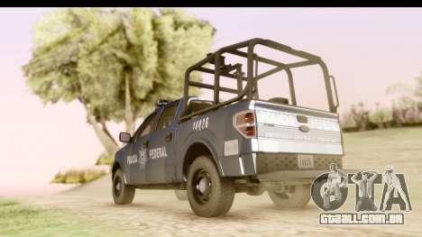 Ford F-150 Policia Federal para GTA San Andreas esquerda vista