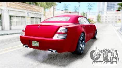 GTA 5 Enus Windsor Drop para GTA San Andreas esquerda vista