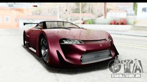 GTA 5 Emperor ETR1 SA Lights para GTA San Andreas traseira esquerda vista