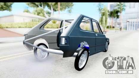 Fiat 147 para GTA San Andreas traseira esquerda vista