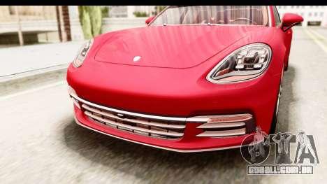 Porsche Panamera 4S 2017 v5 para GTA San Andreas vista superior