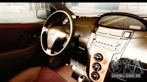 Toyota Vios 2008 Taxi Blue Bird para GTA San Andreas vista interior