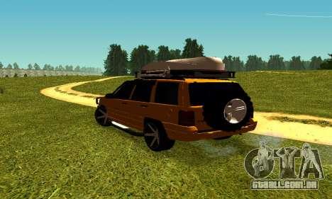 Jeep Grand Cherokee para GTA San Andreas vista direita