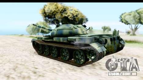 T-62 Wood Camo v3 para GTA San Andreas esquerda vista