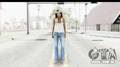 Silverblk White Top para GTA San Andreas segunda tela