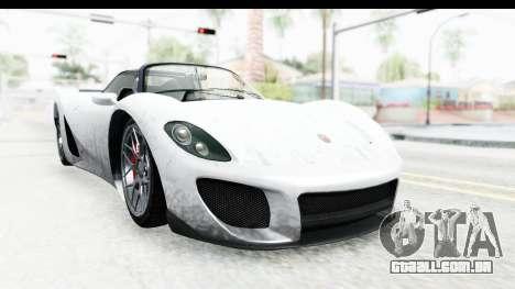 GTA 5 Pfister 811 SA Lights para GTA San Andreas traseira esquerda vista