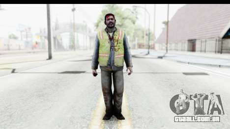 Left 4 Dead 2 - Zombie Baggage Handler para GTA San Andreas segunda tela