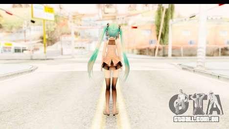Miku Api Oufit v2.0 para GTA San Andreas terceira tela