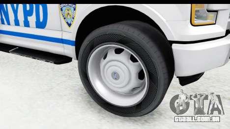 Ford F-150 Police New York para GTA San Andreas vista traseira