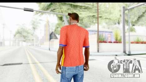 Spain Home Kit 2016 para GTA San Andreas terceira tela