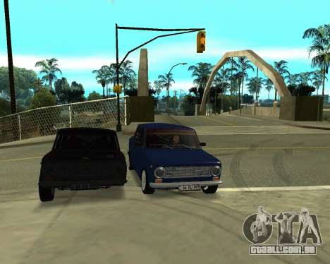 VAZ 2101 Arménia para as rodas de GTA San Andreas