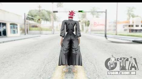 Bleach - Renji para GTA San Andreas terceira tela