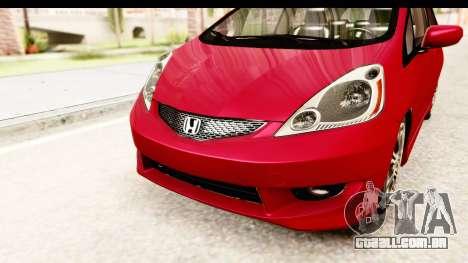 Honda Fit Sport 2009 para vista lateral GTA San Andreas