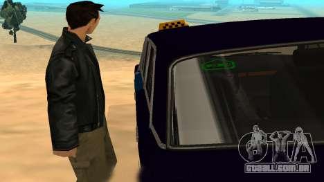 VAZ-2106 para GVR versão inicial para GTA San Andreas vista interior