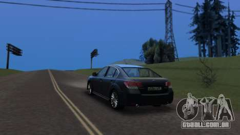 Subaru Legacy 2010 para GTA San Andreas esquerda vista
