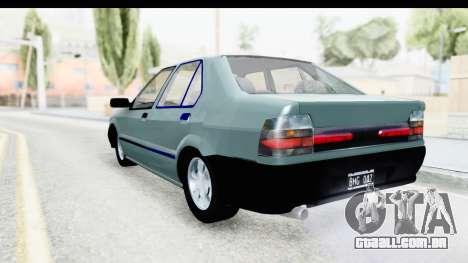 Renault 19 RE para GTA San Andreas esquerda vista