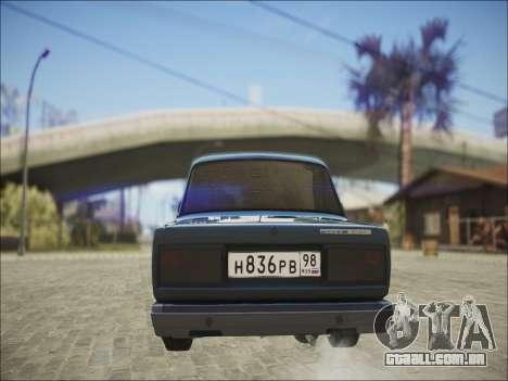 VAZ 2107 Black Jack para GTA San Andreas vista direita