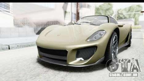 GTA 5 Pfister 811 IVF para GTA San Andreas traseira esquerda vista